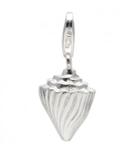 Conch Shell Clip On Charm 925 Sterling Silver