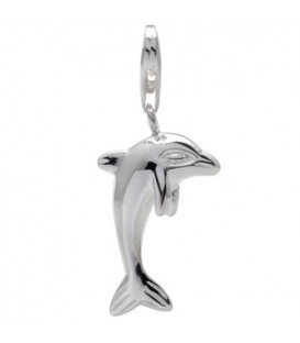 Charms - Dolphin Clip On Charm 925 Sterling Silver