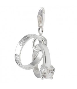 Charms - Wedding Ring Clip on Charm 925 Sterling Silver