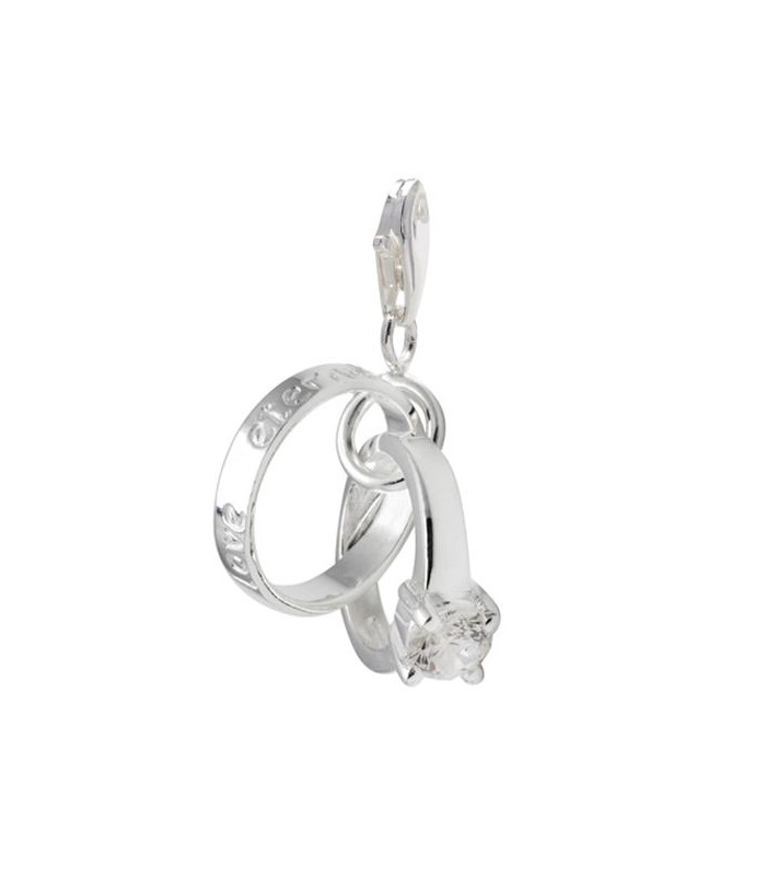 Charms Wedding Ring Clip On Charm 925 Sterling Silver