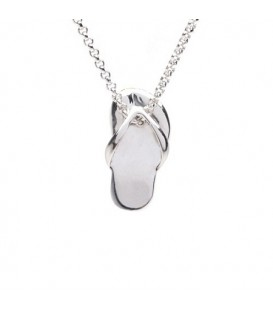 Necklaces - 925 Sterling Silver Sandal Necklace 16""