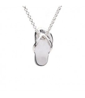 More about 926 Sterling Silver Sandal Necklace 18""