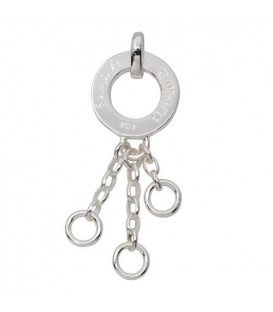 Triple Clip on Charm Carrier 925 Sterling Silver