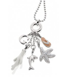 Sandals Inspirational Necklace in 925 Sterling Silver
