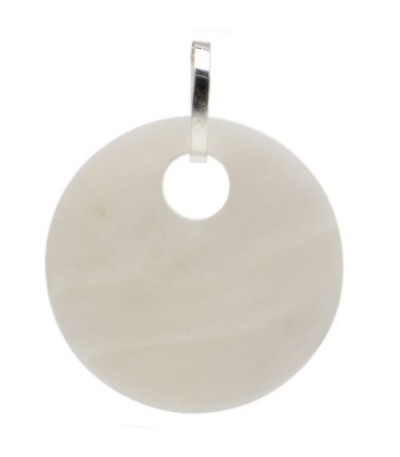 Charms - Mother of Pearl Disk Charm 925 Sterling Silver
