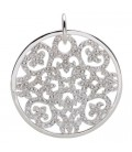 Cut Out Disk Clip on Charm 925 Sterling Silver