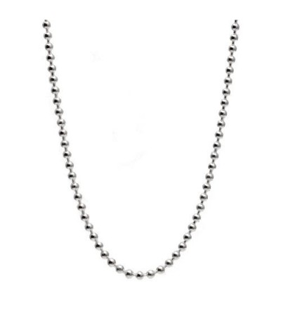 "Necklaces - Bead Chain Necklace 21"" 925 Sterling Silver"