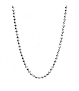 "Bead Chain Necklace 21"" 925 Sterling Silver"
