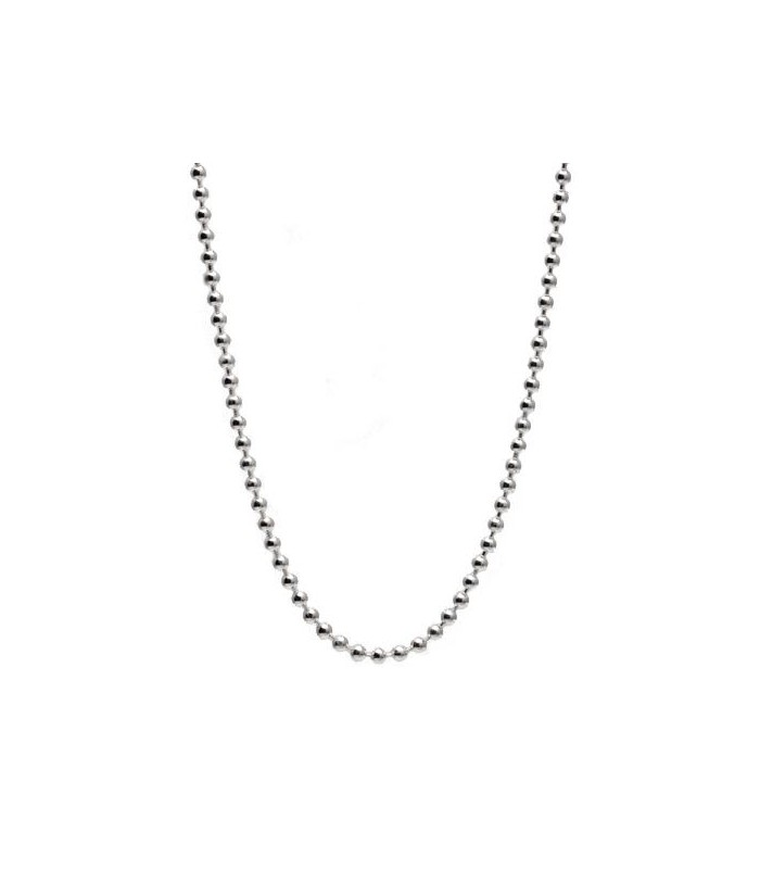 bead chain 27 quot necklace in 925 sterling silver i amoro