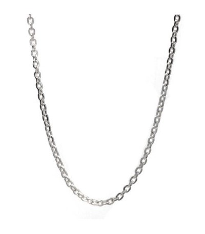 "Sterling Silver 17"" Fine Chain Necklace I Amoro"