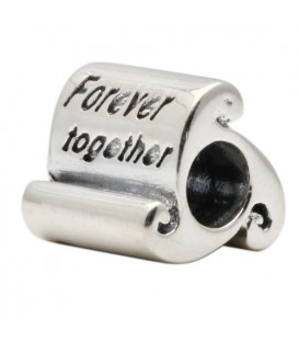 Forever Together Bead Charm 925 Sterling Silver
