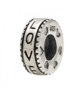 Charms - Love Wheel Bead Charm 925 Sterling Silver