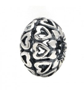 Love Wheel Bead Charm 925 Sterling Silver