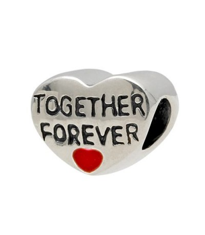 Charms - Together Forever Bead Charm 925 Sterling Silver