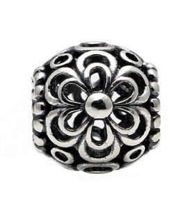Flower Bead Charm 925 Sterling Silver