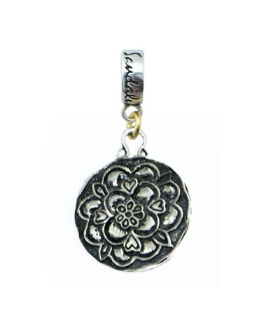 Charms - Sandals Grande St. Lucian Resort Tudor Rose bead Charm 925 Sterling Silver