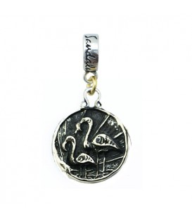 Charms - Sandals Bahamas Royal Bahamian Resort Flamingo Bead Charm 925 Sterling Silver