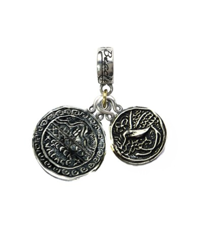 Charms - Beaches Ocho Rios' Greek House & Jamaica Long Tailed Hummingbird Sterling Silver Bead Charms