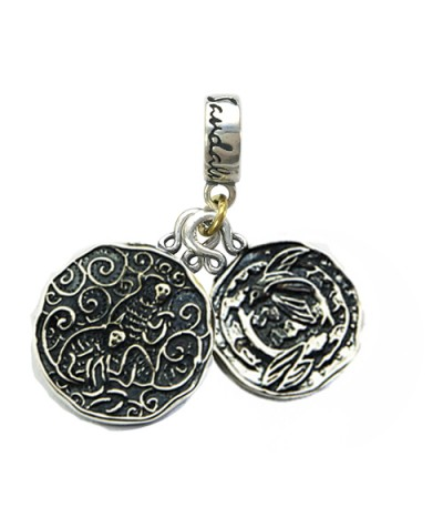 Charms - Sandals Barbados' Green Monkey & Barbados Flying Fish Sterling Silver Bead Charm