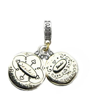 Sandals Barbados' Green Monkey & Barbados Flying Fish Sterling Silver Bead Charm