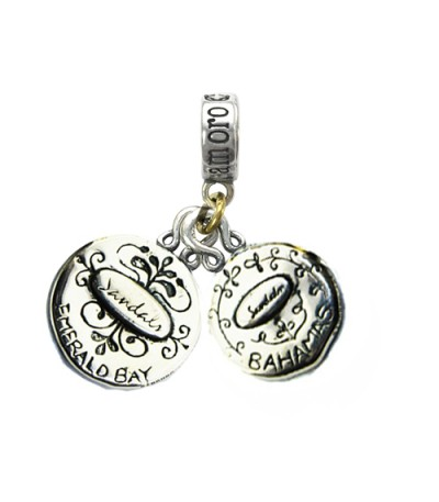 Sandals Emerald Bay's Seagull & Bahamas Conch Shell Sterling Silver Bead Charm