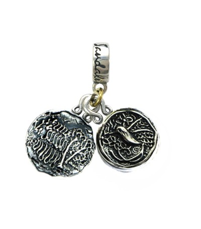 Charms - Sandals Ochi's Dunns River Falls & Jamaica Long Tailed Hummingbird Sterling Silver Bead Charm