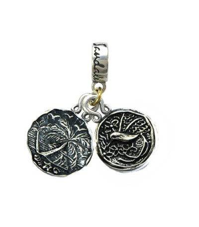 Charms - Sandals Negril's Sunset & Jamaica Long Tailed Hummingbird Sterling Silver Bead Charm