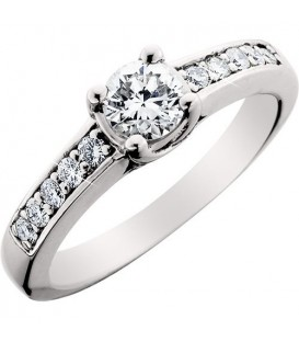 More about 0.75 Carat Round Brilliant Diamond Solitaire Ring 18Kt White Gold