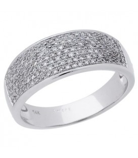Rings - 0.39 Carat Round Cut Diamond Ring 14Kt White Gold