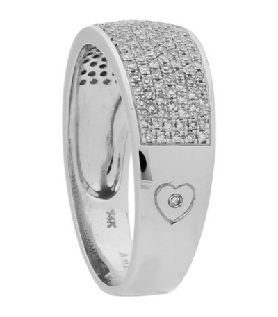 0.39 Carat Round Cut Diamond Ring 14Kt White Gold