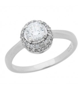 More about 0.56 Carat Round Brilliant Diamond Ring 18Kt White Gold