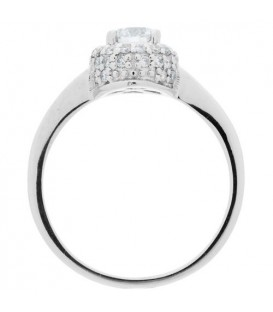 0.56 Carat Round Brilliant Diamond Ring 18Kt White Gold