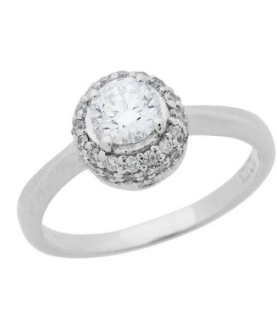 Rings - 0.76 Carat Round Brilliant Diamond Solitaire Ring 18Kt White Gold