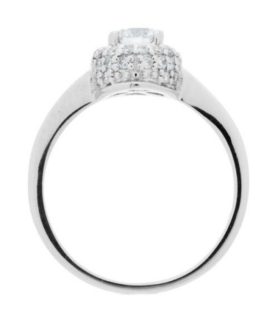 0.76 Carat Round Brilliant Diamond Solitaire Ring 18Kt White Gold