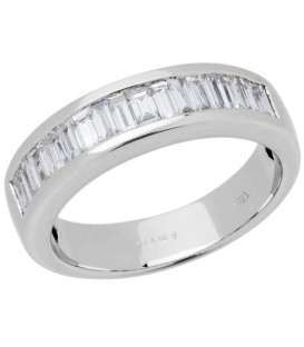 More about 0.76 Carat Baguette Cut Diamond Band 18Kt White Gold