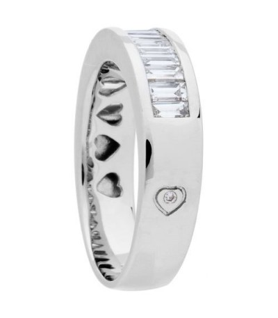 0.76 Carat Baguette Cut Diamond Band 18Kt White Gold