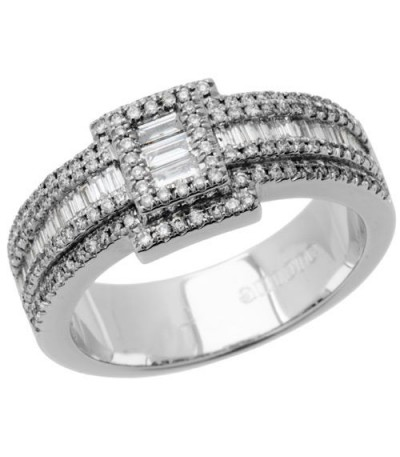 Rings - 0.82 Carat Baguette Cut Diamond Band 18Kt White Gold