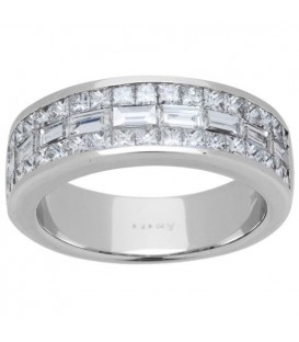 More about 1.53 Carat Baguette Cut Diamond Band 18Kt White Gold