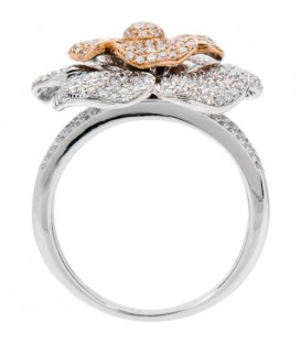 1.25 Carat Round Brilliant Diamond Ring 18Kt Two-Tone Gold