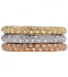 More about 0.77 Carat Round Brilliant Diamond Rings 18Kt Tri-Color Gold