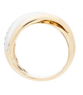 0.16 Carat Round Brilliant Diamond Ring 18Kt Two-Tone Gold