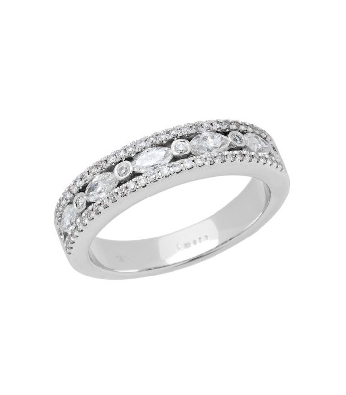 Marquise Cut 0 57ct Diamond Ring 18kt White Gold Amoro