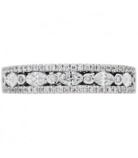 0.57 Carat Marquise Cut Diamond Ring 18Kt White Gold