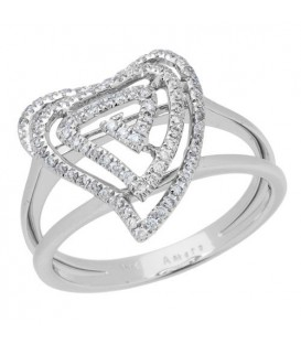 More about 0.26 Carat Round Brilliant Diamond Ring 18Kt White Gold