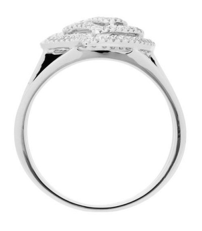 0.26 Carat Round Brilliant Diamond Ring 18Kt White Gold