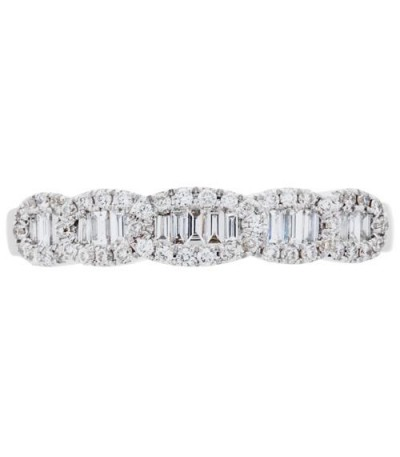 0.32 Carat Baguette Cut Diamond Ring 18Kt White Gold