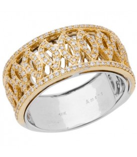 Rings - 0.32 Carat Round Brilliant Diamond Ring 18Kt Two-Tone Gold
