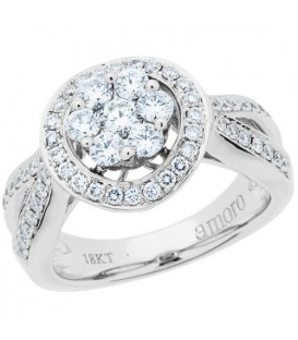 More about 0.87 Carat Round Brilliant Diamond Ring 18Kt White Gold