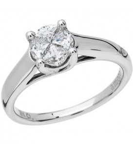 0.52 Carat Invisible Set for Amoro Diamond Ring 18Kt White Gold