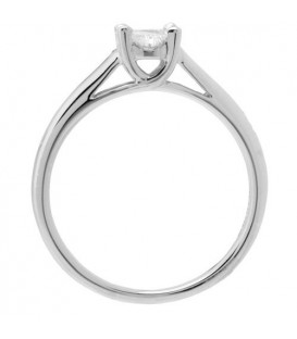 0.52 Carat Quattour for Amoro Diamond Ring 18Kt White Gold